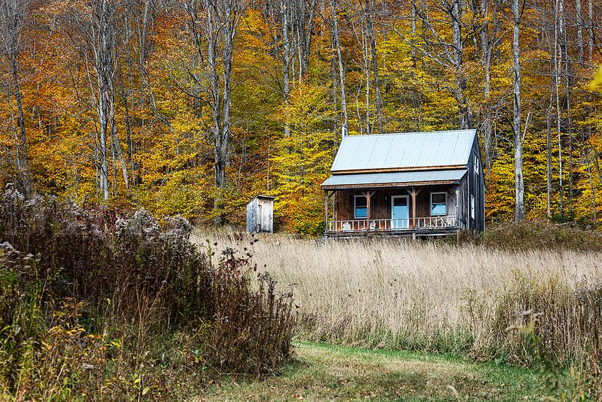 Remote rural house, Topsham, Vermont, USA.