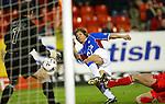 Claudio Caniggia fires home against Aberdeen