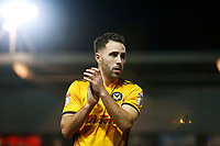 Robbie Willmott of Newport County after the final whistle of the Sky Bet League Two match between Newport County and Morcambe at Rodney Parade, Newport, Wales, UK. 23 January 2018
