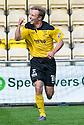IAIN RUSSELL CELEBRATES AFTER HE SCORES LIVINGSTON'S FIRST