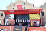 Trek-Segafredo best team from yesterday's stage at sign on before Stage 3 of La Vuelta d'Espana 2021, running 202.8km from Santo Domingo de Silos to Picon Blanco, Spain. 16th August 2021.      <br /> Picture: Cxcling | Cyclefile<br /> <br /> All photos usage must carry mandatory copyright credit (© Cyclefile | Cxcling)