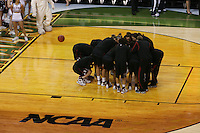 6 April 2008: Stanford Cardinal (not in order) Melanie Murphy, Jayne Appe, Michelle Harrison, JJ Hones, Candice Wiggins, Cissy Pierce, Kayla Pedersen, Hannah Donaghe, Rosalyn Gold-Onwude, Jeanette Pohlen, Ashley Cimino, Morgan Clyburn, and Jillian Harmon during Stanford's 82-73 win against the Connecticut Huskies in the 2008 NCAA Division I Women's Basketball Final Four semifinal game at the St. Pete Times Forum Arena in Tampa Bay, FL.