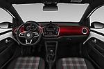 Stock photo of straight dashboard view of a 2018 Volkswagen UP GTi 3 Door Hatchback