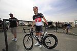 Radioshack-Nissan Trek rider Fabian Cancelara (SUI) before the start of Stage 4 of the 2012 Tour of Qatar from Al Thakhira to Madinat Al Shamal, Qatar. 8th February 2012.<br /> (Photo Eoin Clarke/Newsfile)