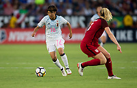 Carson, CA - Thursday August 03, 2017: Rin Sumida during a 2017 Tournament of Nations match between the women's national teams of the United States (USA) and Japan (JAP) at StubHub Center.
