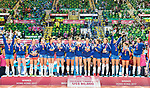 Team Serbia pose for photo during the prize presentation of FIVB Volleyball World Grand Prix - Hong Kong 2017 on 23 July 2017, in Hong Kong, China. Photo by Yu Chun Christopher Wong / Power Sport Images