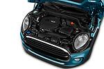 Car Stock 2019 MINI Convertible Cooper-Signature 2 Door Convertible Engine  high angle detail view
