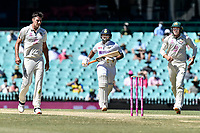 11th January 2021; Sydney Cricket Ground, Sydney, New South Wales, Australia; International Test Cricket, Third Test Day Five, Australia versus India; Manish Pandey of India runs between the wickets