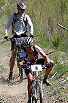 Rob Smith-Clare (241) watches Wayne Pool (8) descend. Mammoth Adventure MTB Ride, Nelson<br /> Photo: Marc Palmano/shuttersport.co.nz