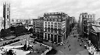 Banque d-Hochelaga, Montreal 1922, futur emplacement de la tour de la Banque Nationale
