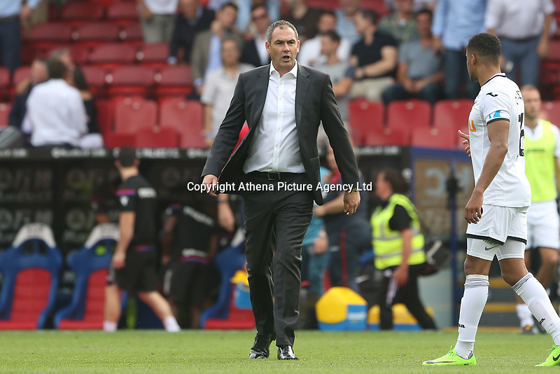 Swansea City manager Paul Clement after the final whistle of the Premier League match between Crystal Palace and Swansea City at Selhurst Park, London, UK. Saturday 26 August 2017