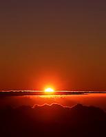 Sunrise viewed from Haleakala National Park, Maui.