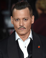 "Johnny Depp<br /> at the ""Murder on the Orient Express"" premiere held at the Royal Albert Hall, London<br /> <br /> <br /> ©Ash Knotek  D3344  03/11/2017"