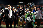 Jan. 7, 2013; Linebacker Manti Te'o walks off the field after Alabama defeated Notre Dame 42 to 14 in the 2013 BCS National Championship in Miami, Florida. Photo by Barbara Johnston/University of Notre Dame