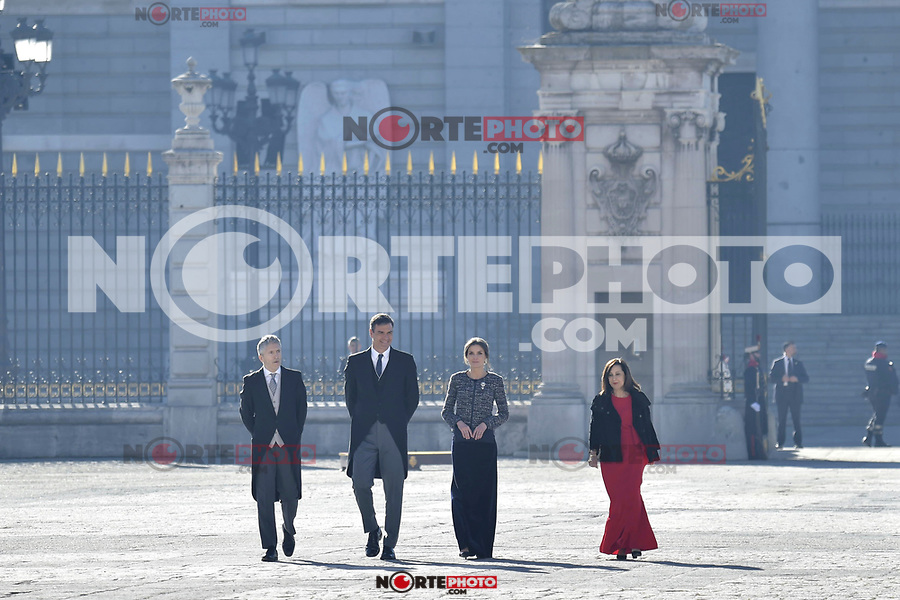 Fernando Grande-Marlaska, Pedro Sanchez, Queen Letizia of Spain and Margarita Robles attends to Pascua Militar at Royal Palace in Madrid, Spain. January 06, 2019. (ALTERPHOTOS/Pool) /NortePhoto.com