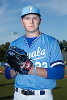 Burlington Royals pitcher Nolan Watson (23) poses for a photo prior to the game against the Danville Braves at Burlington Athletic Park on August 13, 2015 in Burlington, North Carolina.  The Braves defeated the Royals 6-3. (Brian Westerholt/Four Seam Images)