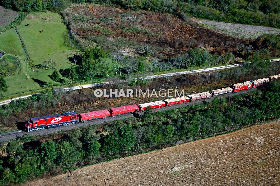 Transporte em trem de carga. Paraná. 2007. Foto de Zig Koch.