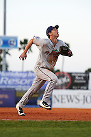 Fort Myers Miracle third baseman Chris Paul (18) during a game against the Daytona Tortugas on April 17, 2016 at Jackie Robinson Ballpark in Daytona, Florida.  Fort Myers defeated Daytona 9-0.  (Mike Janes/Four Seam Images)