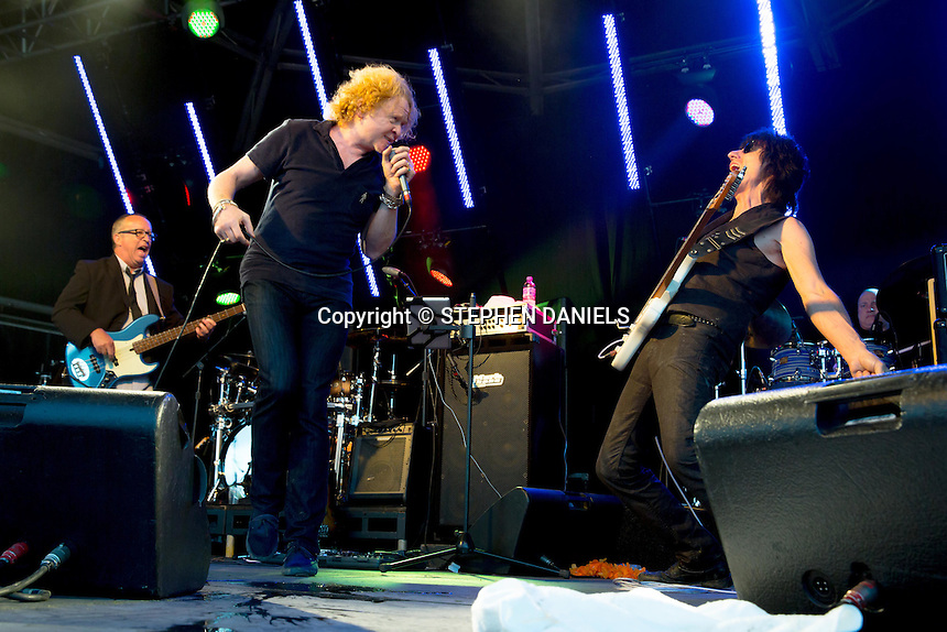 Photo by © Stephen Daniels 14/06/2014 <br /> Hurtwood Park Polo Club, Ewhurst, Surrey.<br /> Mick Hucknall & Jeff Beck