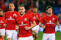 Chris Gunter of Wales runs off the pitch during the FIFA World Cup Qualifier Group D match between Wales and Republic of Ireland at The Cardiff City Stadium, Wales, UK. Monday 09 October 2017