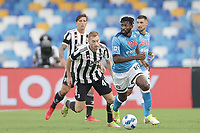 Andre Zambo Anguissa of SSC Napoli during the Serie A 2021/2022 football match between SSC Napoli and Juventus FC at Diego Armando Maradona stadium in Napoli (Italy), September 11th, 2021. <br /> Photo Cesare Purini / Insidefoto