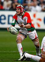 Photo: Richard Lane/Richard Lane Photography. Bath Rugby v Biarritz Olympique. Heineken Cup. 10/10/2010. Biarritz' Magnus Lund passes.