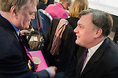 John Prescott MP and Ed Balls MP.  Labour Party Special Conference on reform of its links to trade unions, ExCel Centre, London.