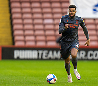 21st November 2020, Oakwell Stadium, Barnsley, Yorkshire, England; English Football League Championship Football, Barnsley FC versus Nottingham Forest; Cyrus Christie of Nottingham Forrest on the ball