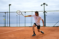 11th April 2021; Roquebrune-Cap-Martin, France;  StefanTsitsipas Gre during practise sessions for the  Rolex Monte Carlo Masters