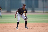 Pittsburgh Pirates third baseman Ke'Bryan Hayes (13) during a minor league Spring Training game against the Philadelphia Phillies on March 24, 2017 at Carpenter Complex in Clearwater, Florida.  (Mike Janes/Four Seam Images)