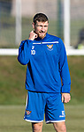 St Johnstone Training…29.10.19<br />David Wotherspoon pictured during training this morning at McDiarmid Park ahead of tomorrow's game against Hearts.<br />Picture by Graeme Hart.<br />Copyright Perthshire Picture Agency<br />Tel: 01738 623350  Mobile: 07990 594431