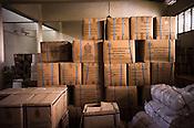 Boxes of vaccines seen in the warehouse in Vavuniya, Sri Lanka.  Photo: Sanjit Das/Panos