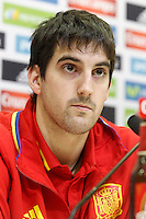 Mikel San Jose in press conference during Spanish national football team stage. March 22,2016. (ALTERPHOTOS/Acero)