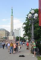 Freiheitsmonument in Riga in Riga, Lettland, Europa, Unesco-Weltkulturerbe