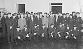 0601-A04 North Precinct  Police Station. Group portrait of police force. Early 1960s. St. Johns, Portland, Oregon.