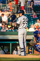 Jack Reinheimer (29) of the Jackson Generals bats during a game between the Jackson Generals and Chattanooga Lookouts at AT&T Field on May 7, 2015 in Chattanooga, Tennessee. (Brace Hemmelgarn/Four Seam Images)