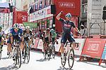 Jasper Philipsen (BEL) Alpecin-Fenix wins Stage 2 of La Vuelta d'Espana 2021, running 166.7km from Caleruega. VIII Centenario de Santo Domingo de Guzmán to Burgos. Gamonal, Spain. 15th August 2021.    <br /> Picture: Cxcling   Cyclefile<br /> <br /> All photos usage must carry mandatory copyright credit (© Cyclefile   Cxcling)