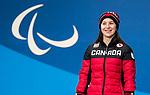 Mollie Jepsen, PyeongChang 2018 - Para Alpine Skiing // Ski para-alpin.<br /> Mollie Jepsen collects her bronze medal in the women's standing downhill during the medal ceremony at the PyeongChang Olympic Plaza // Mollie Jepsen recueille sa médaille de bronze en descente debout femmes lors de la cérémonie de remise des médailles à la place olympique de PyeongChang. 10/03/2018.