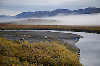 Campers along the Sheenjek River, near Kuirzinjik Lake (Lobo Lake)in Alaska's Arctic National Wildlife Refuge, are treated to a spectacular early morning in late August.