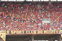 SÃO LOURENÇO DA MATA-PE-05.03.2017-NÁUTICO - SPORT - Torcida do Sport durante partida contra o Náutico em jogo válido pela 6ª rodada do Campeonato Pernambucano(Hexagonal do Título) 2017, na Arena de Pernambuco, Região Metropolitana do Recife, neste domingo,05. (Foto: Charles Johnson/Brazil Photo Press)