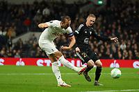 30th September 2021; Tottenham Hotspur Stadium. Tottenham, London, England; UEFA Conference League football, Tottenham v NS Mura: Harry Kane of Tottenham Hotspur scores a hat-trick for 5-1 in the 88th minute