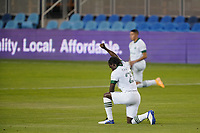 SAN JOSE, CA - SEPTEMBER 19: Diego Chara #21 of the Portland Timbers before a game between Portland Timbers and San Jose Earthquakes at Earthquakes Stadium on September 19, 2020 in San Jose, California.