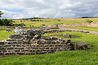 Northumberland,  England, UK.  Looking North from Vindolanda Roman Fort.