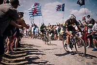 Yves Lampaert (BEL/Quick-Step Floors) on pavé sector #4<br /> <br /> Stage 9: Arras Citadelle > Roubaix (154km)<br /> <br /> 105th Tour de France 2018<br /> ©kramon
