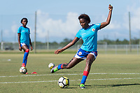Bradenton, FL - Sunday, June 12, 2018: Flero Surprise prior to a U-17 Women's Championship 3rd place match between Canada and Haiti at IMG Academy. Canada defeated Haiti 2-1.