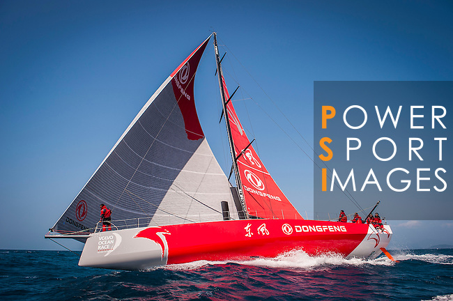 Dongfeng Race Team trains on Hainan waters ahead the 2014/15 Volvo Ocean Race on February 24, 2014 in Sanya, China. Photo by Victor Fraile / Power Sport Images