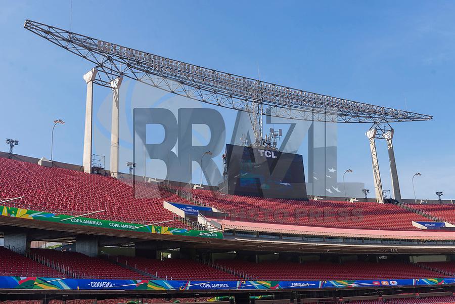 São Paulo (SP), 12/06/2019 - Copa América / Media Briefing -  Estádio do Morumbi que será palco da abertura da Copa América 2019 durante media briefing da Copa América 2019 no Estádio do Morumbi em São Paulo, nesta quarta-feira, 12.  (Foto: Anderson Lira/Brazil Photo Press)
