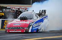 Oct. 2, 2011; Mohnton, PA, USA: NHRA funny car driver Bob Tasca III during the Auto Plus Nationals at Maple Grove Raceway. Mandatory Credit: Mark J. Rebilas-
