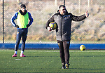 St Johnstone Training…. 06.01.21<br />Thums up from Manager Callum Davidson pictured during training at McDiarmid Park ahead of Saturday's game against local rivals Dundee Utd.<br />Picture by Graeme Hart.<br />Copyright Perthshire Picture Agency<br />Tel: 01738 623350  Mobile: 07990 594431