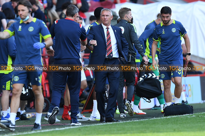 Nigel Adkins Manager of Charlton Athletic FC  at the final whistle during Charlton Athletic vs Cheltenham Town, Sky Bet EFL League 1 Football at The Valley on 11th September 2021